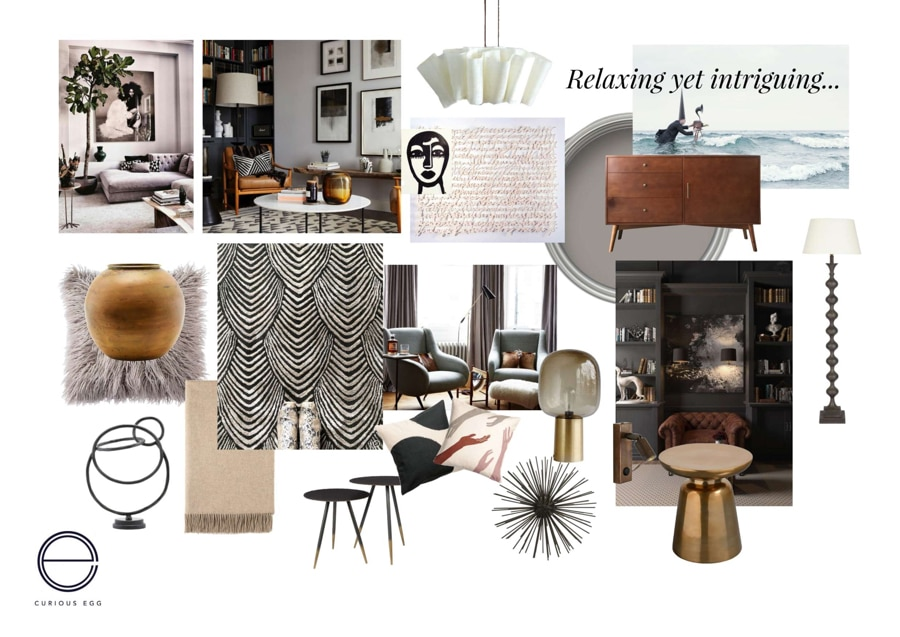 moodboard for morning room