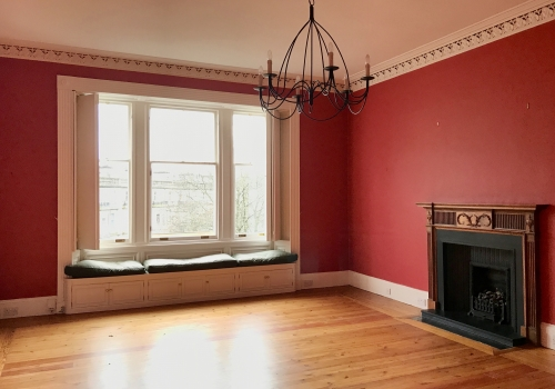Renovation of large sitting room in Victorian tenement