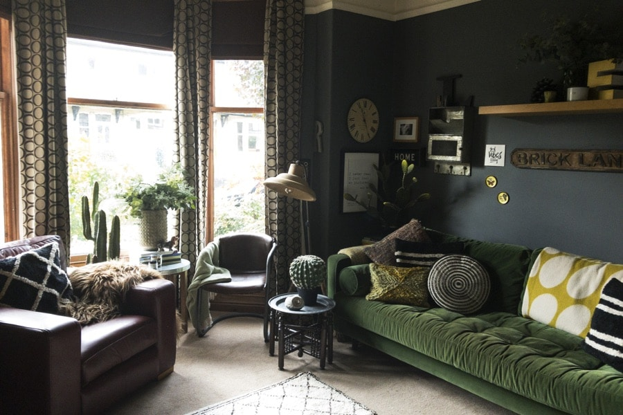 eclectic living room of Nicola Broughton