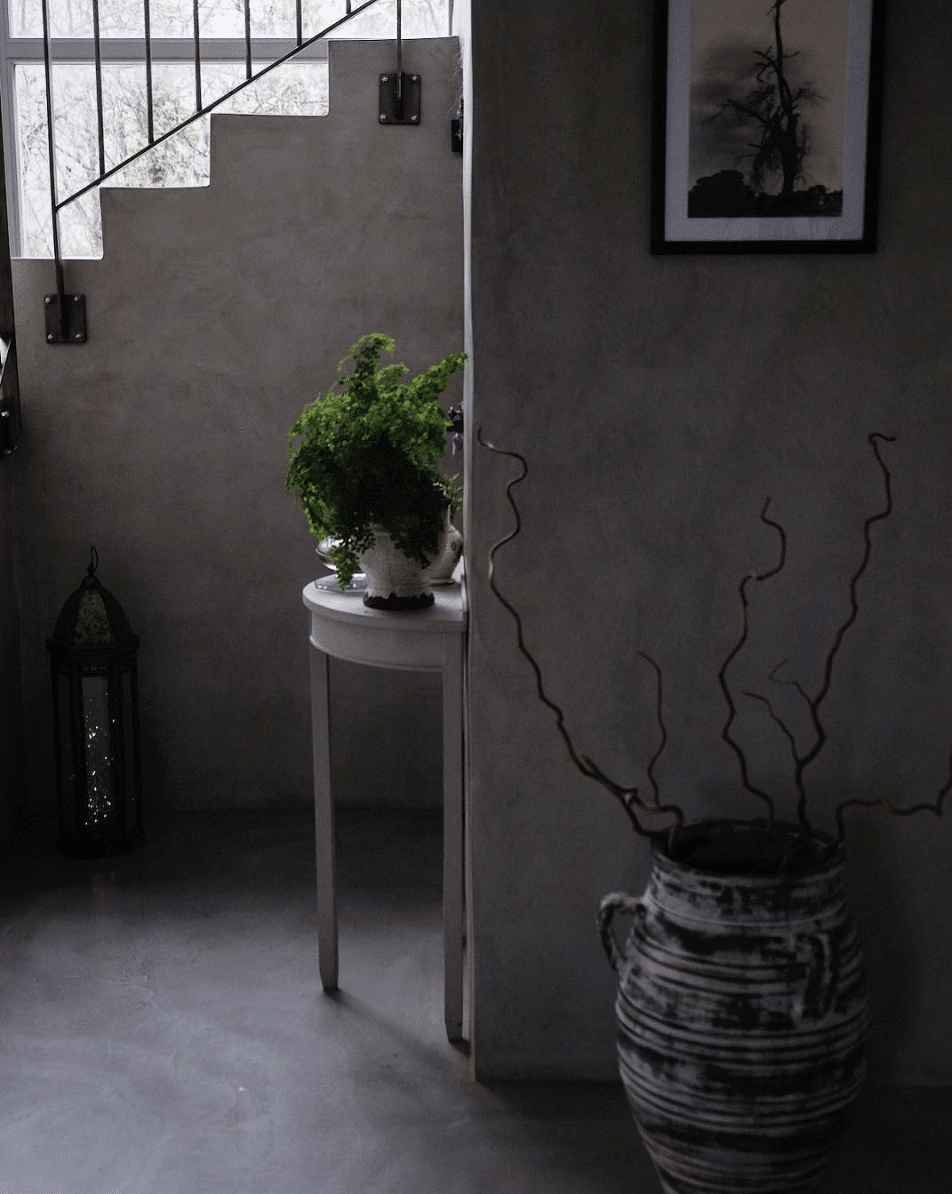 polished concrete walls and floors