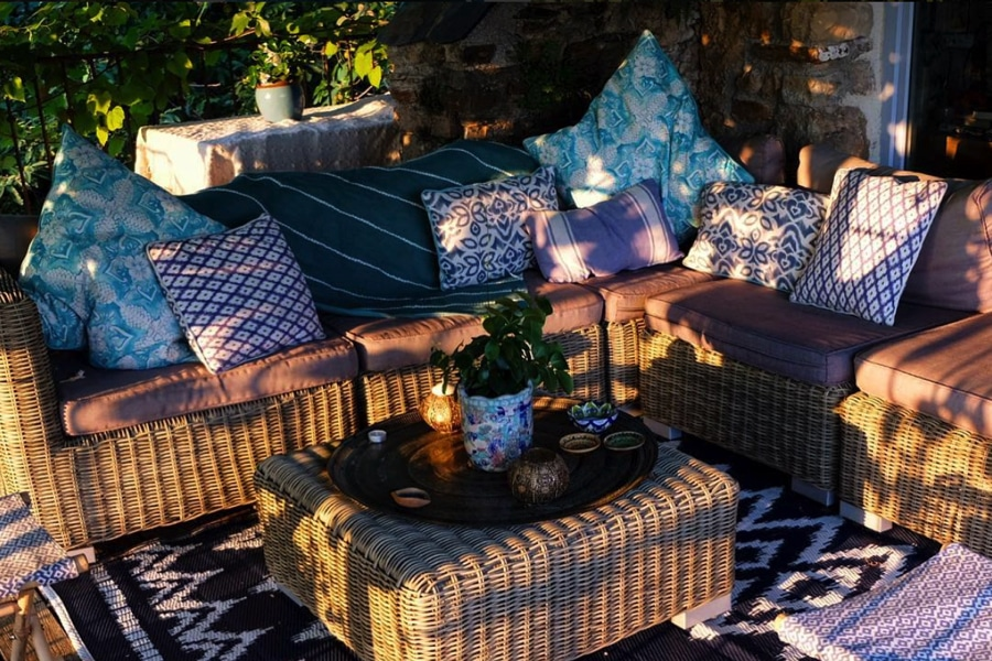 relaxed garden seating