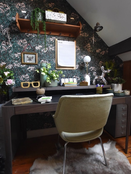 study with quirky decor