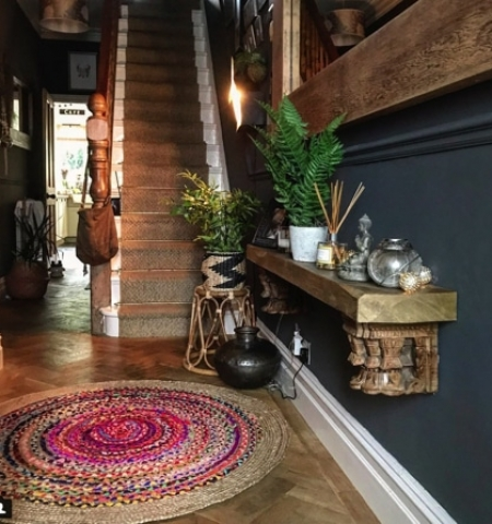 eclectic hand woven details in interiors