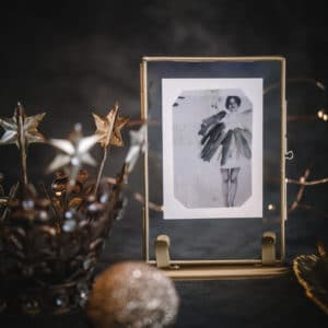 Little Brass Photo Frame With Stand