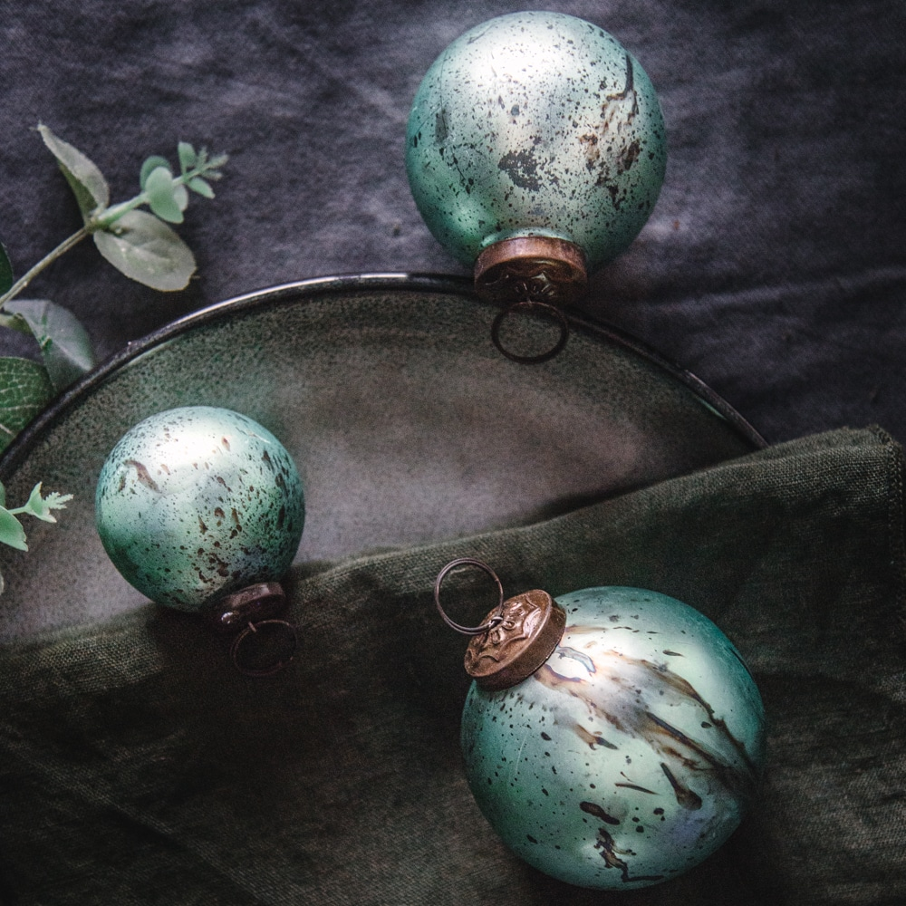 Pale Teal Bauble Set of 3 Lifestyle 4