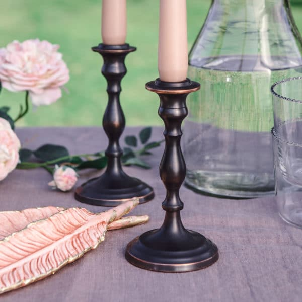 banquet candlestick for summer dining outdoors