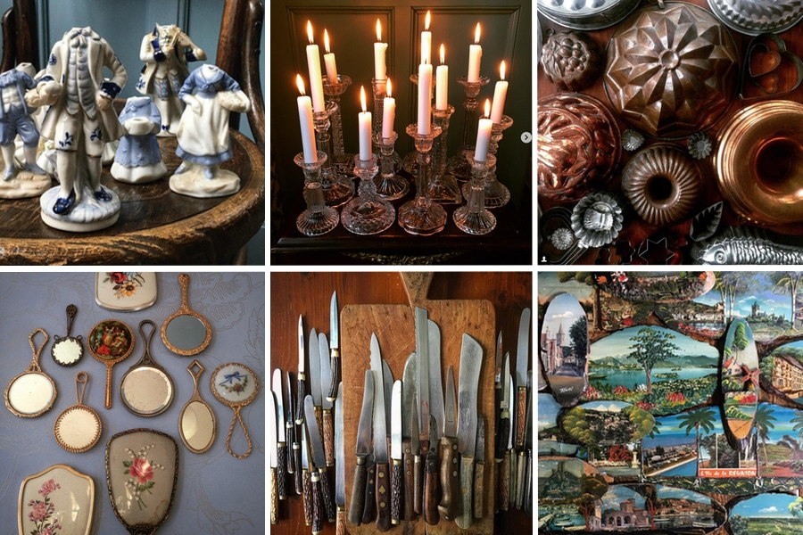collected antique objects