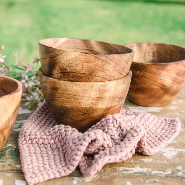 small handmade wooden bowl