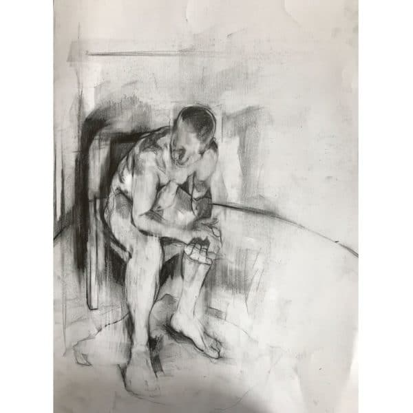 Original Drawing by Kane McLay - 'Life Study in Chair'