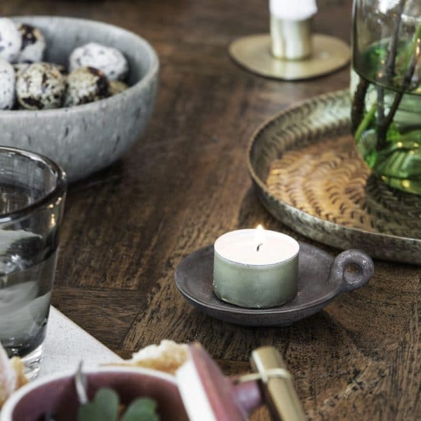 tealight ceramic candleholder with handle