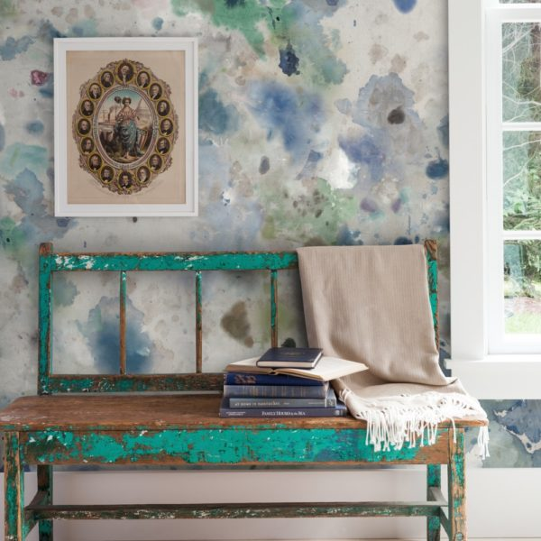 Dreamboat wallpaper by Feathr in Blue colour.  Lifestyle image.
