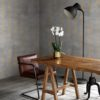 Shimmer Strip wallpaper by Feathr in gold colour - lifestyle image 1.