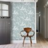 Ocean Spray wallpaper by Feathr in Duck Egg Colour - Lifestyle image