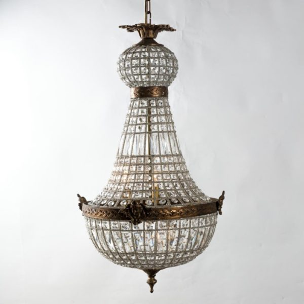 Curious Egg Celestine small size chandelier lifestyle image.