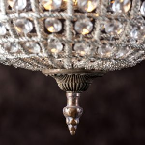 Curious Egg Cendrillon extra large size chandelier closeup image from bottom.