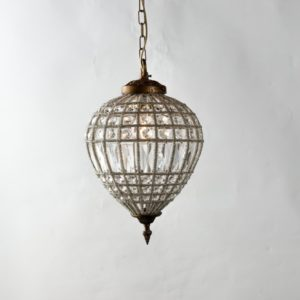 Curious Egg Elodie extra small size chandelier lifestyle image.