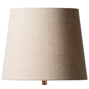 Curious Egg Granary Natural Linen 32 centimetre diameter lampshade in natural colour cutout image