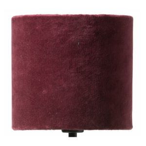 Curious Egg Papillon Pleated Silk and Velvet 17 centimetre diameter lampshade in burgundy colour cutout image