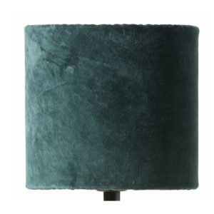 Curious Egg Papillon Pleated Silk and Velvet 17 centimetre diameter lampshade in green colour cutout image