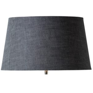 Curious Egg Rustic Linen large lampshade in slate blue colour cutout image