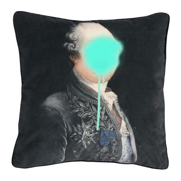 Curious Egg Monsieur Mint Cushion - cutout image