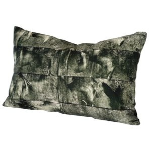 Stoff Studios BlocII Cushion Racing Green cutout image with white background.