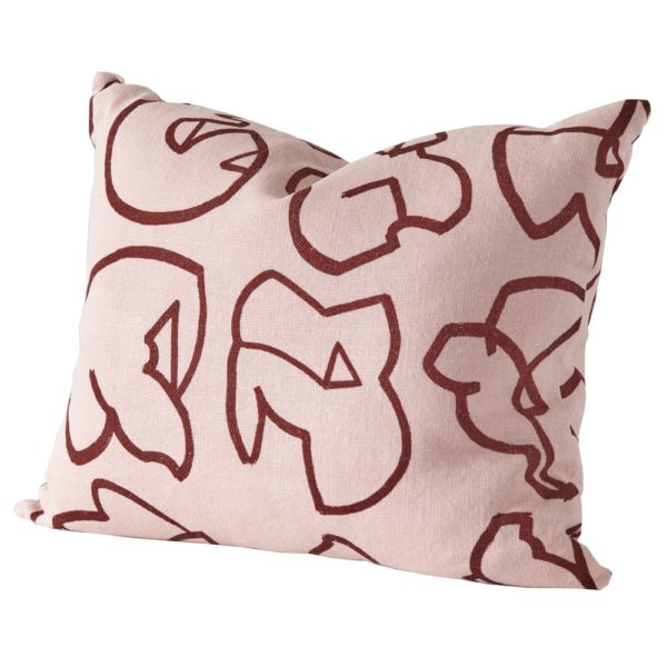 Stoff Studios Icon Cushion PuddingPink cutout image with white background.
