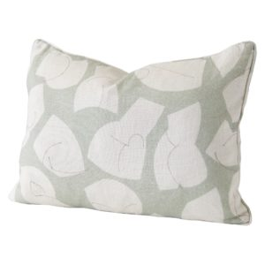 Stoff Studios No1 Cushion Green cutout image with white background.