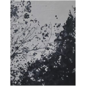 Original Painting by Elliott Cookson - Branches in the Wind. Cutout image of artwork on white background.