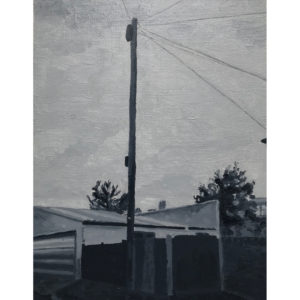 Original Painting by Elliott Cookson - My Walk Home. Cutout image of artwork on white background.