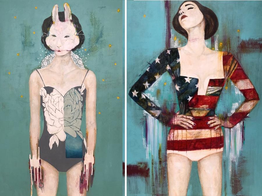 mixed media paintings by Karenina Fabrizzi