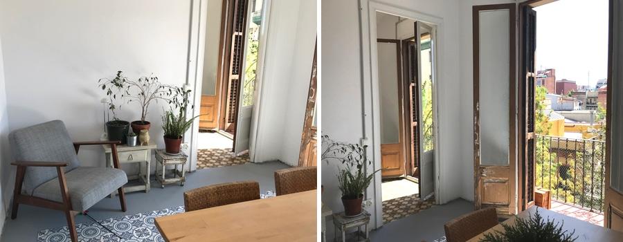 artist's apartment in Barcelona