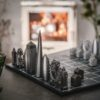 Curious Egg Skyline Chess Set London Premium Map Lifestyle image.