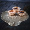 Curious Egg Water Lily Leaf Cake Stand Lifestyle image.
