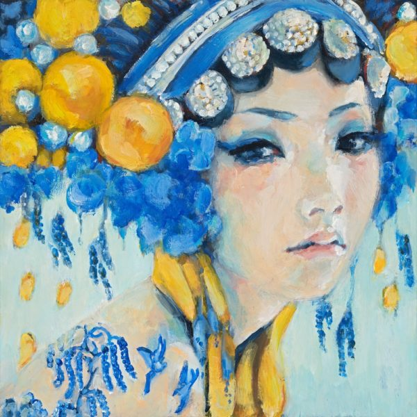 Gill WaltChina Girl original painting by Gill Walton exclusively available at Curious Egg