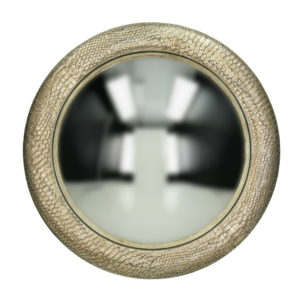 Curious Egg Burnished Silver Snakeskin Effect Mirror