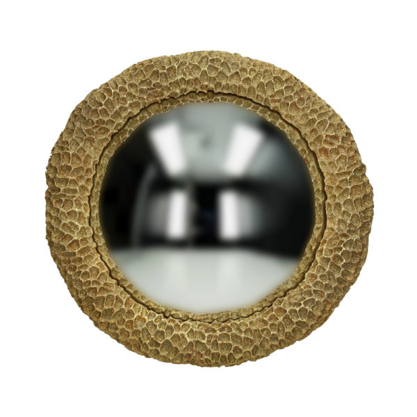 Curious Egg Golden Coral Reef Round Mirror
