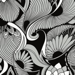 Florence Broadhurst Aubrey Wallpaper in Black at Curious Egg