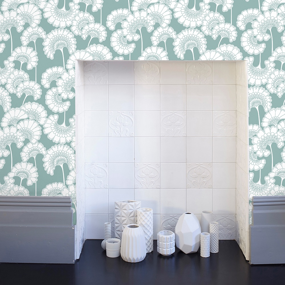 Florence-B-Japanese-Floral-Wallpaper-Pale-Teal-Curious-Egg-Lifestyle2-for-web