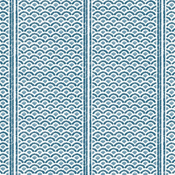 Florence Broadhurst Japanese Panels wallpaper in Blue at Curious Egg