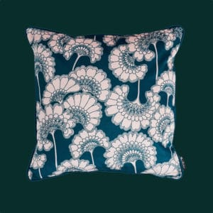 florence Broadhurst velvet forest green cushion