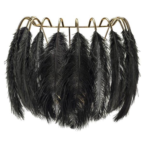 Black Feather Wall Lamp by Young & Battaglia - at Curious Eg