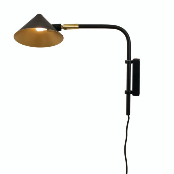Curious Egg Capello Wall Lamp - Short - In Black Colour