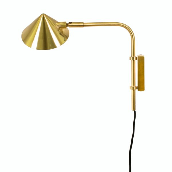 Curious Egg Capello Wall Lamp - Short - In Gold Colour