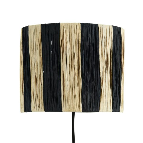 Curious Egg Everglades Wall Light with Stripe Pattern
