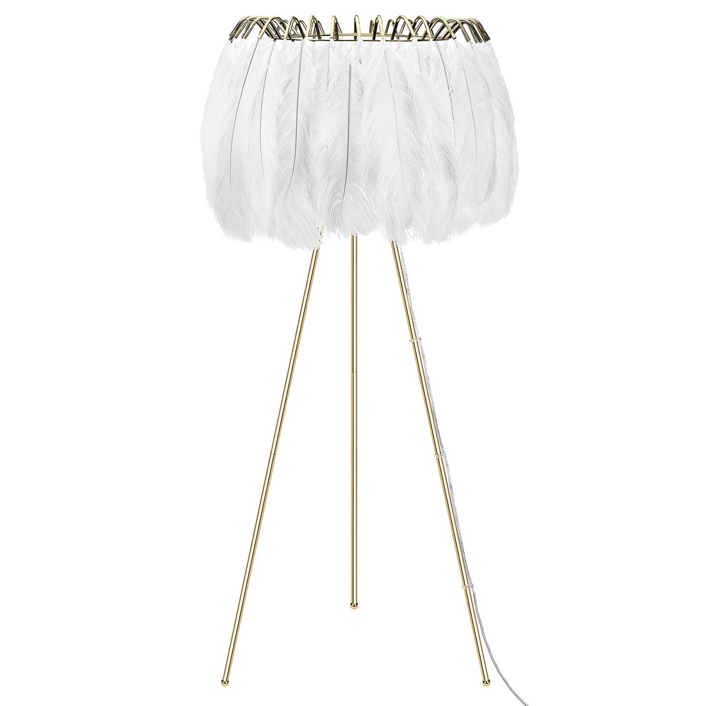 Feather Floor Lamp White Curiousegg