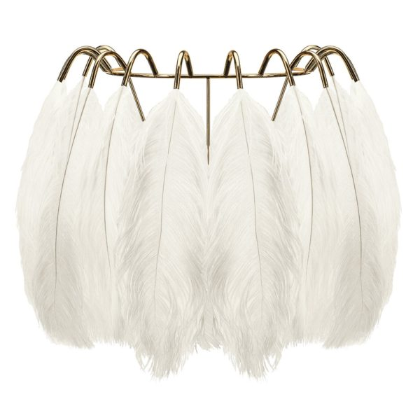 White Feather Wall Lamp by Young & Battaglia - at Curious Eg