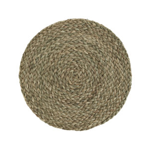 Woven grass table mat cut out image