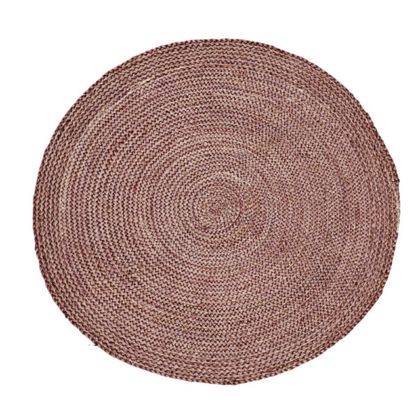 woven pink hemp rug cut out image
