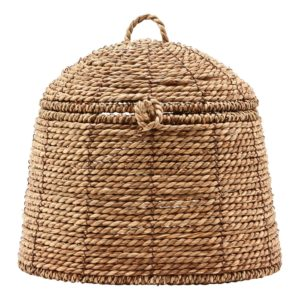 Curious Egg Belize Small Dome Lidded basket - cutout image of the basket on a white background.